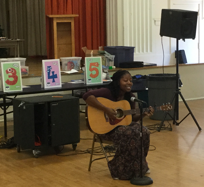 Courtney Rice performing at Alta Loma Elementary