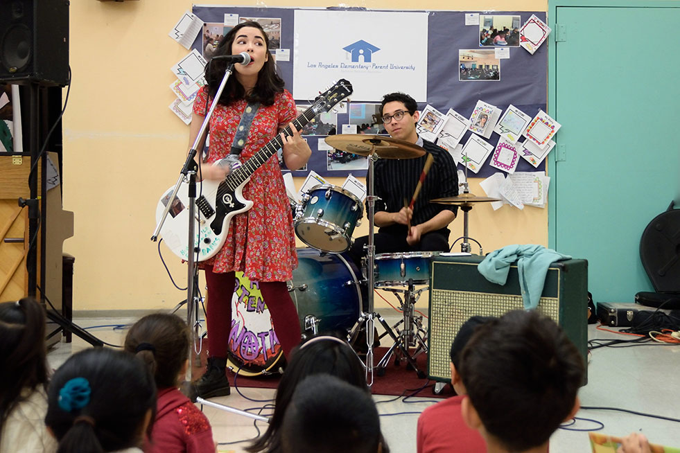 The Potential Lunatics performing at Los Angeles Elementary